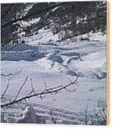 Montagna Panorama Wood Print