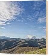 Monte Cinto From Col De San Colombano In Corsica Wood Print
