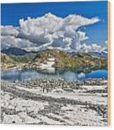 Monticello Lake - Tonale Pass Wood Print