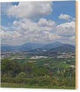 Montorfano. A View To Lake Iseo Wood Print