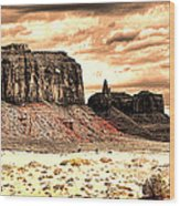 Monument Valley II Wood Print