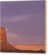 Monument Valley Red Rock Formations At Sunrise Wood Print