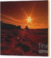 Monument Valley -utah  Wood Print