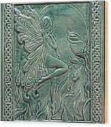 Moon Fairy Wood Print