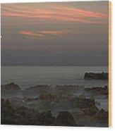 Moonrise Coral Cove Wood Print