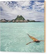 Moorea Woman Floating Wood Print