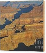 Morning Color And Shadow Play In Grand Canyon National Park Wood Print