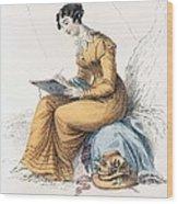 Morning Dress, Fashion Plate Wood Print