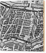 Moscow: Kitai-gorod Map Wood Print