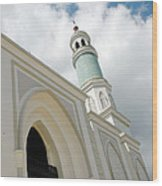 mosque in Tarakan Indonesia Wood Print