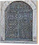 Mosque Window Wood Print
