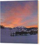 Mount Crested Butte Wood Print