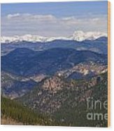 Mount Evans And Continental Divide Wood Print