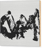 Mountain Avant-garde Calligraphy Wood Print