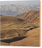 Mountain Scenary Near Zanjan In Iran Wood Print