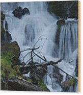 Mountain Waterfall Wood Print