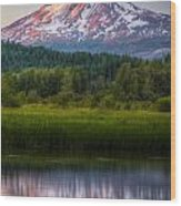 Mt Adams Sunset Wood Print