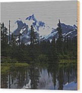 Mt Baker Washington  Wood Print