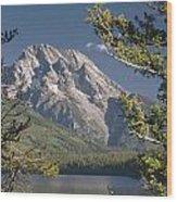Mt. Moran And Jenny Lake Wood Print