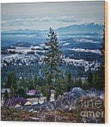 Mt Spokane Wood Print