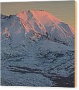 Mt. St. Helens Sunset Wood Print