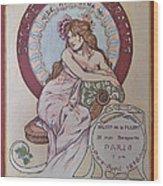 Mucha Poster Wood Print