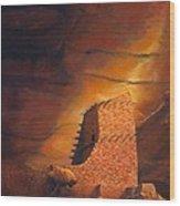 Mummy Cave Ruins Wood Print