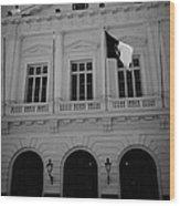 Municipalidad De Santiago City Hall Building Chile Wood Print