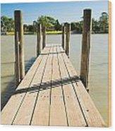 Murray River Jetty Wood Print