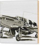 Mustang P-51 Wood Print