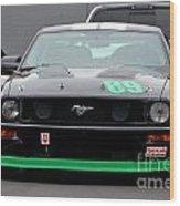 Mustang Race Car Wood Print