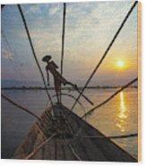 Myanmar, Inle Lake Wood Print