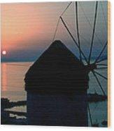 Mykonos Island Greece Wood Print