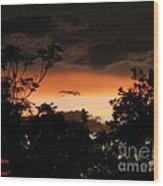 Mystic Sunset Wood Print