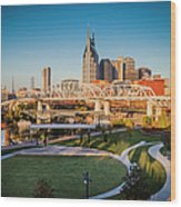 Nashville Morning Wood Print