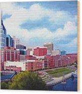 Nashville Skyline Wood Print by Janet King