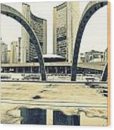 Nathan Phillips Square Wood Print
