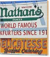 Nathan's Sign Wood Print