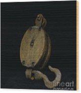 Nautical - Boat Block And Tackle Wood Print