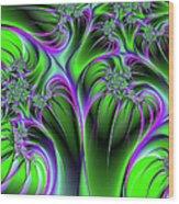 Neon Fantasy Wood Print