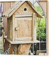 Nesting Box Wood Print