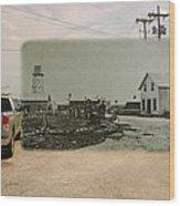 Net Mending At Sakonnet Point In Little Compton Rhode Island Wood Print