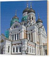 Nevsky Cathedral - Tallin Estonia Wood Print