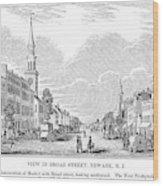 New Jersey Newark, 1844 Wood Print