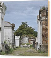 New Orleans Lafayette Cemetery Wood Print by Christine Till