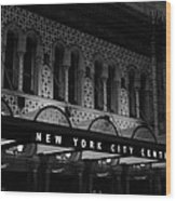 New York City Center Wood Print