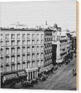 New York City Hotel Wood Print