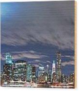 New York City Manhattan Panorama  Wood Print