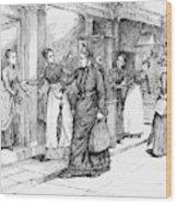New York Milliner, 1889 Wood Print