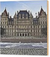 New York State Capitol Building Wood Print